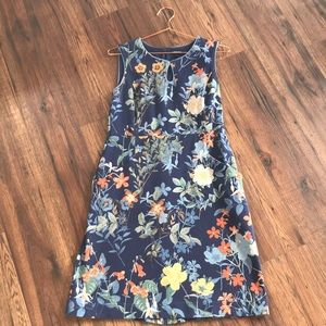 Floral Midi • Land's End • Size 8 • Summer Dress